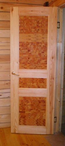 Уникальные сосновые двери для деревянного дома